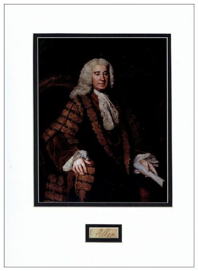 Henry Pelham Prime Minister Autograph Signed Display